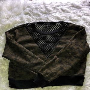 Camo Sweater Crop Top from FOREVER 21
